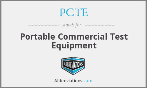 What does PCTE stand for?