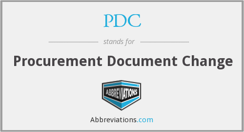 PDC - Procurement Document Change