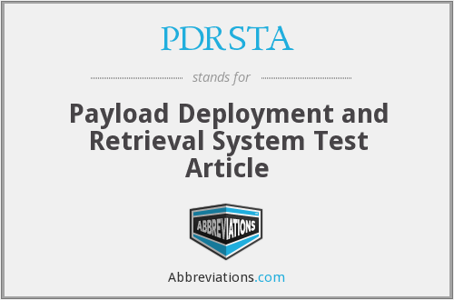 What does PDRSTA stand for?