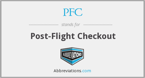 PFC - Post-Flight Checkout
