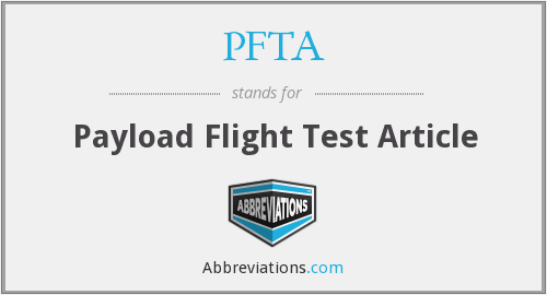 PFTA - Payload Flight Test Article