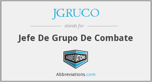 What does JGRUCO stand for?