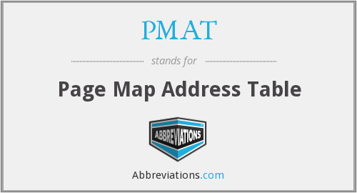 PMAT - Page Map Address Table