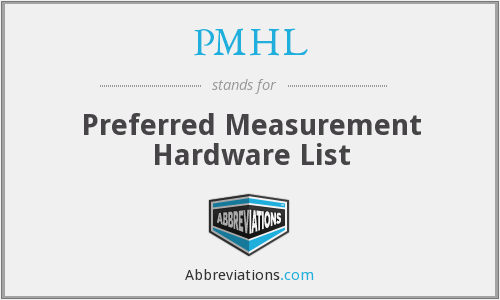 What does PMHL stand for?