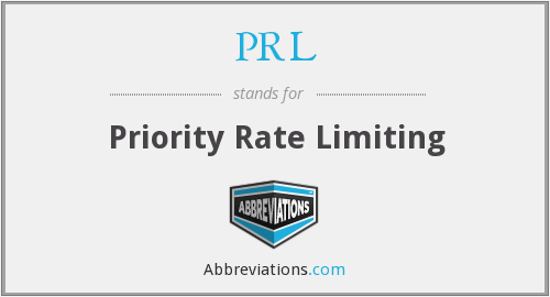 PRL - Priority Rate Limiting