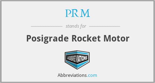 PRM - Posigrade Rocket Motor