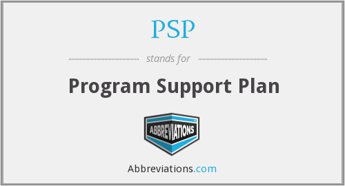 PSP - Program Support Plan