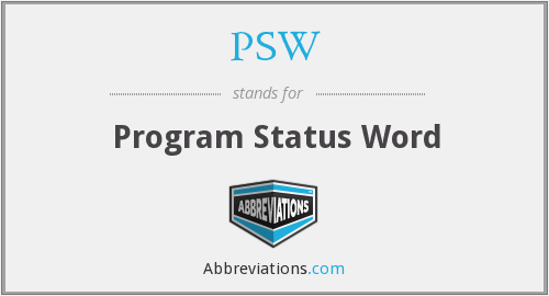 PSW - Program Status Word