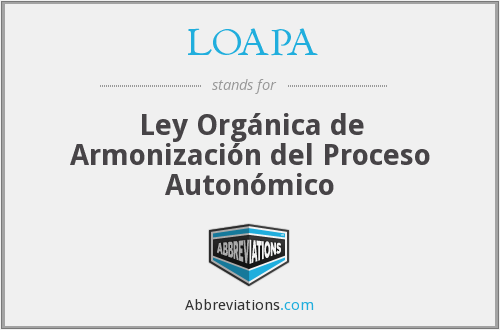 What does LOAPA stand for?