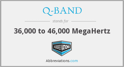 Q-BAND - 36,000 to 46,000 MCS