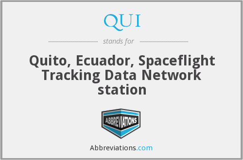 QUI - Quito, Ecuador, Spaceflight Tracking Data Network station