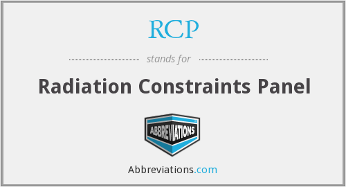 RCP - Radiation Constraints Panel