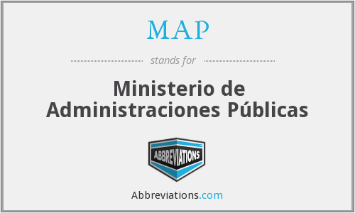 MAP - Ministerio de Administraciones Públicas