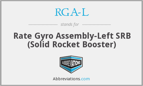 RGAL - Rate Gyro Assembly-Left SRB