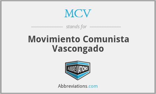 MCV - Movimiento Comunista Vascongado