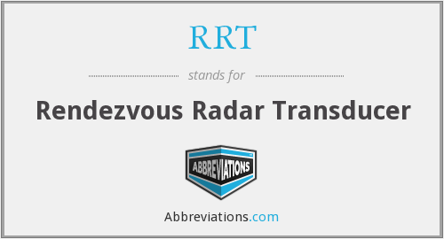 RRT - Rendezvous Radar Transducer