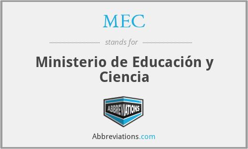 MEC - Ministerio de Educación y Ciencia