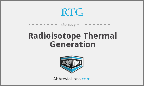 RTG - Radioisotope Thermal Generation