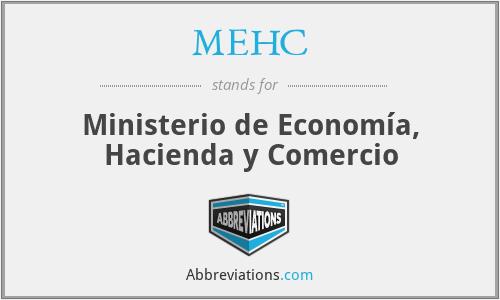 MEHC - Ministerio de Economía, Hacienda y Comercio