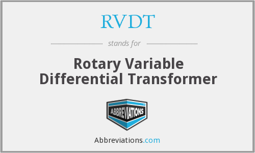 What does RVDT stand for?