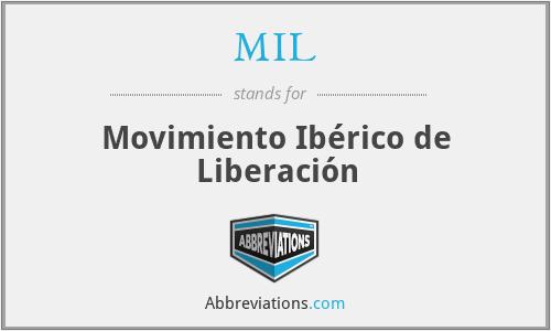 MIL - Movimiento Ibérico de Liberación