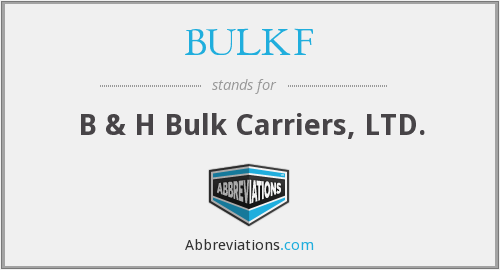 What does BULKF stand for?