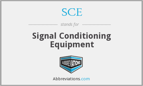 SCE - Signal Conditioning Equipment