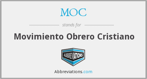 MOC - Movimiento Obrero Cristiano