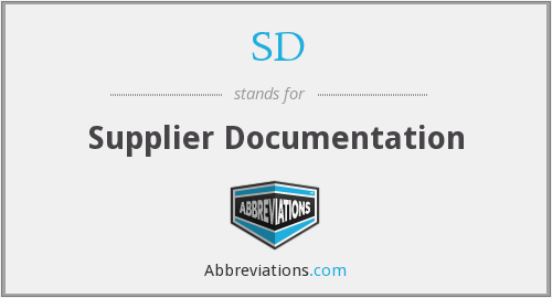 SD - Supplier Documentation