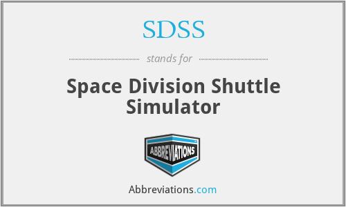 SDSS - Space Division Shuttle Simulator