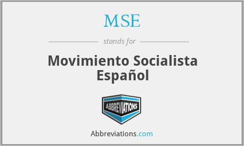 MSE - Movimiento Socialista Español
