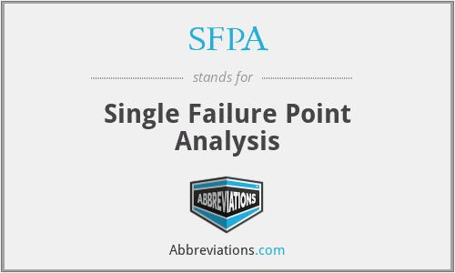 SFPA - Single Failure Point Analysis