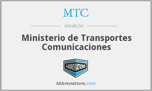 MTC - Ministerio de Transportes Comunicaciones