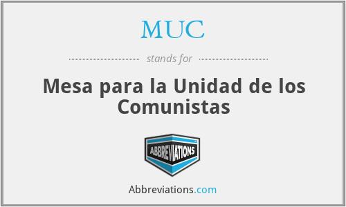 MUC - Mesa para la Unidad de los Comunistas