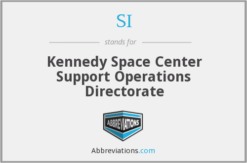 SI - Kennedy Space Center Support Operations Directorate