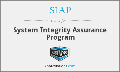 SIAP - System Integrity Assurance Program