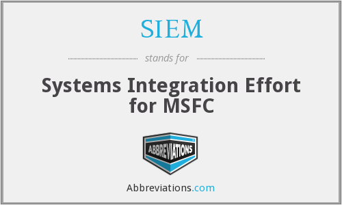 SIEM - Systems Integration Effort for MSFC