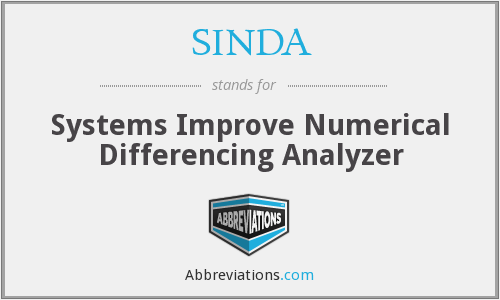 What does SINDA stand for?