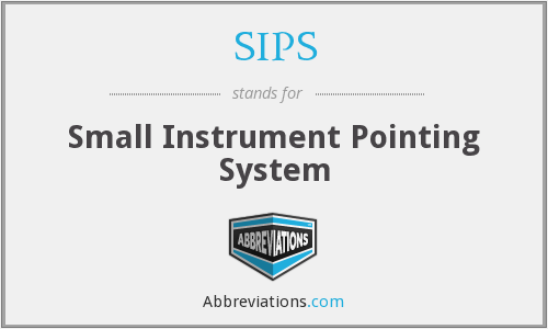 SIPS - Small Instrument Pointing System