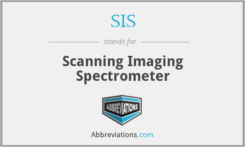 SIS - Scanning Imaging Spectrometer