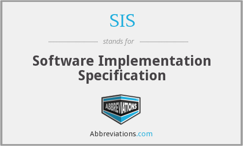 SIS - Software Implementation Specification