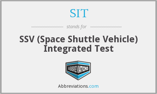SIT - SSV (Space Shuttle Vehicle) Integrated Test
