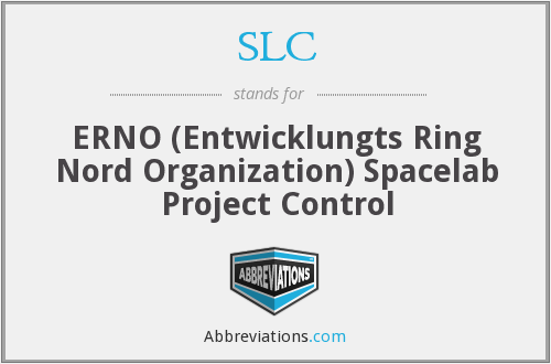 SLC - ERNO (Entwicklungts Ring Nord Organization) Spacelab Project Control