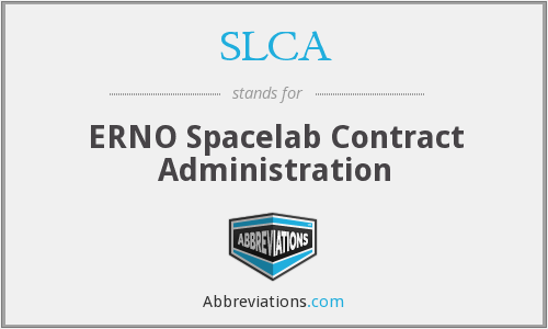 SLCA - ERNO Spacelab Contract Administration