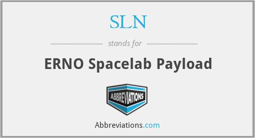 SLN - ERNO Spacelab Payload