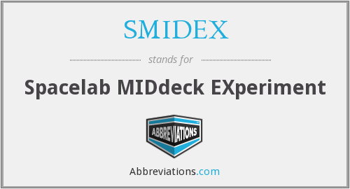 What does SMIDEX stand for?