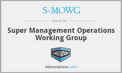 What does S-MOWG stand for?