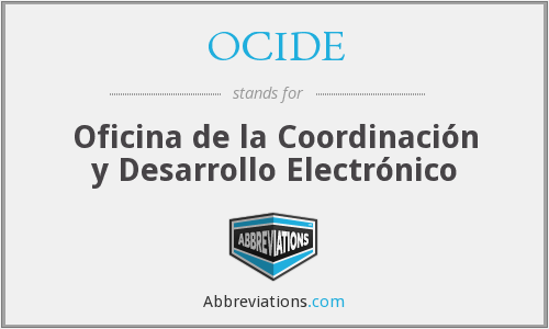 What does OCIDE stand for?
