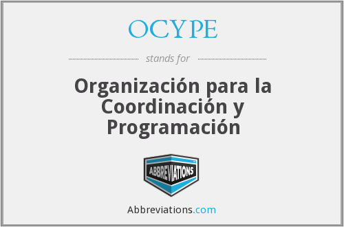 What does OCYPE stand for?