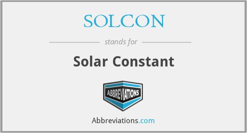 SOLCON - Solar Constant